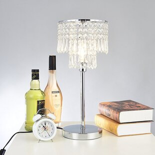 Crystal chandelier table lamp wayfair crystal 45cm table lamp aloadofball Image collections