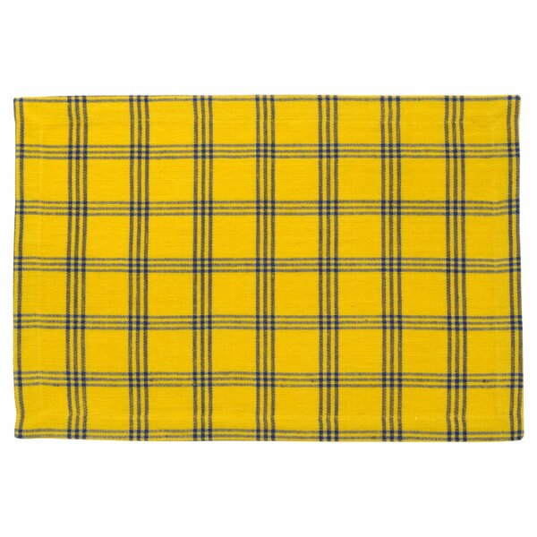 Safflower Cotton Striped Placemat (Set of 6) by Traders and Company