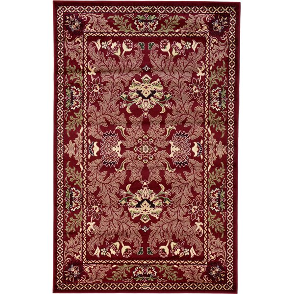 Wheatland Red Area Rug by Darby Home Co