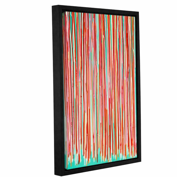 Fresh Turquoise Framed Painting Print by Latitude Run
