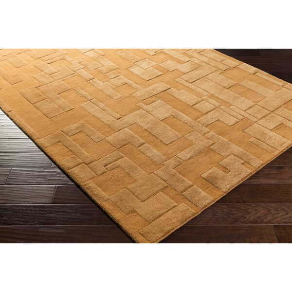 Dionne Hand-Tufted Orange Area Rug by Ebern Designs