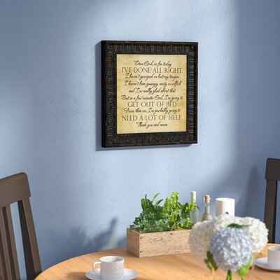 'Dear God' Framed Textual ArtBrown