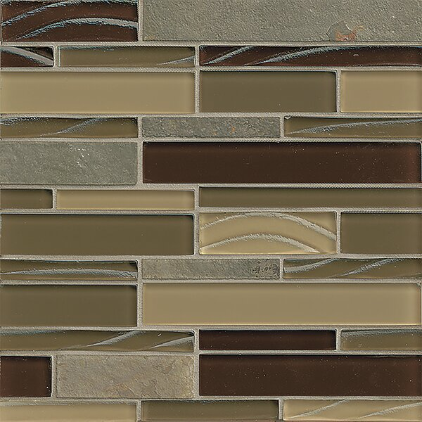 Queenstown 12 x 12 Stone Mosaic Linear Tile in Masterton by Grayson Martin