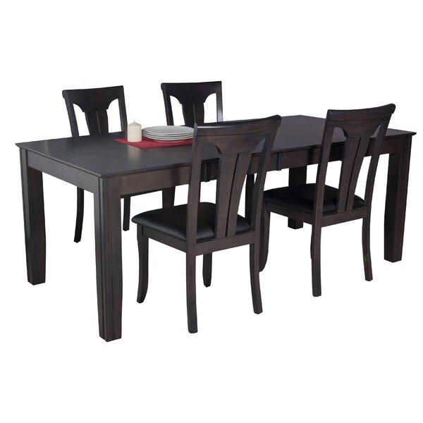 Avangeline 5 Piece Wood Dining Set by Gracie Oaks