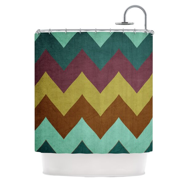 Catherine McDonald Mountain High Art Object Shower Curtain by East Urban Home