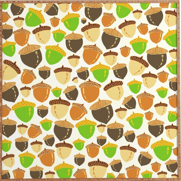 Acorns Framed Graphic Art by East Urban Home