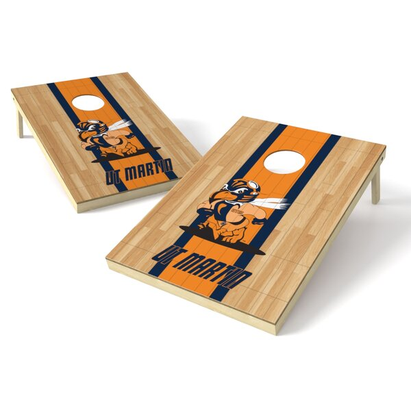 NCAA Hardwood Cornhole Game Set by Tailgate Toss