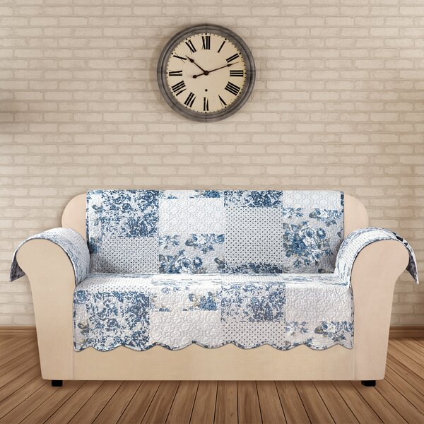 Heirloom Quilted Prewashed Cotton Loverseat Slipcover By Sure Fit