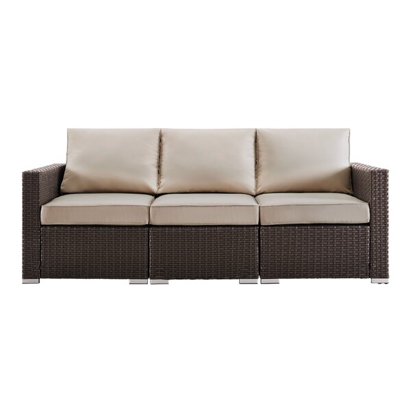 Conleth Patio Sofa with Cushions by Orren Ellis