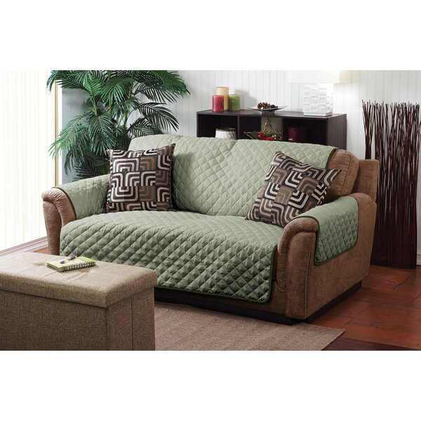 Double Sided Box Cushion Loveseat Slipcover By Simplify