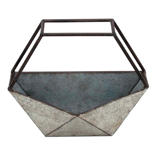 Geo Conservatory Metal Pot Planter by Foreside Home & Garden