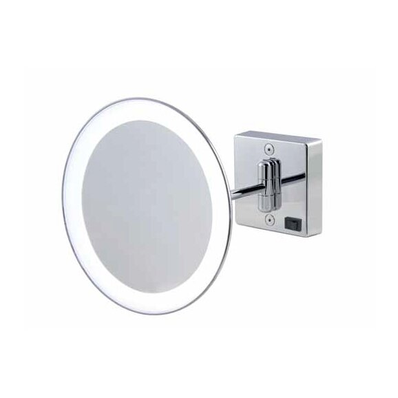 Mirror Pure III LED Lighted 3x Magnifying Makeup Mirror by WS Bath Collections