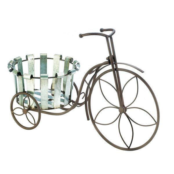 Galvanized Bucket Tricycle Plant Stand by Zingz & Thingz