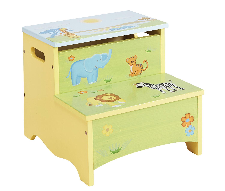 Miraculous Savanna Smiles Kids Step Stool With Storage Creativecarmelina Interior Chair Design Creativecarmelinacom