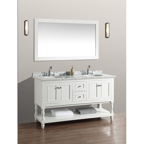 60 Double Bathroom Vanity Set with Mirror by Birch Lane™