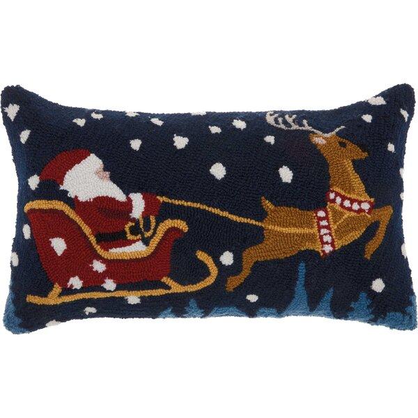 Leboeuf Santa Sleigh Wool Lumbar Pillow by The Holiday Aisle