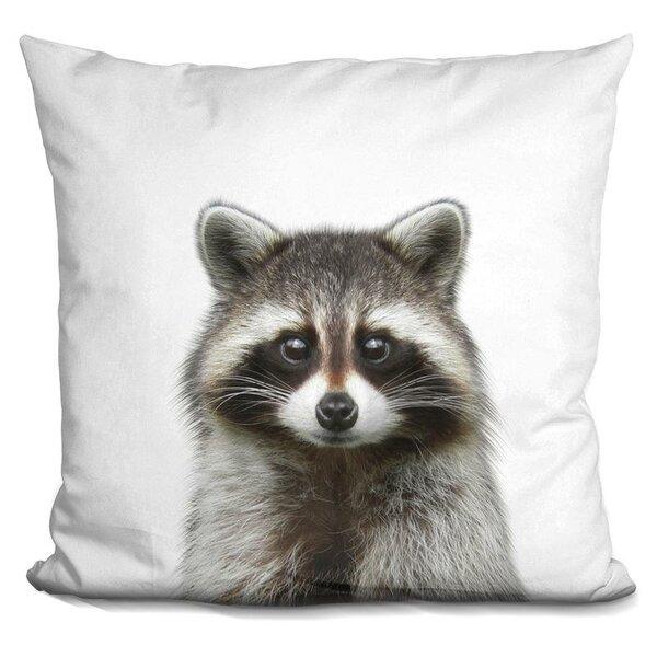 Raccoon Throw Pillow by East Urban Home