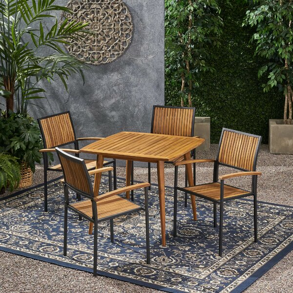 Harty Outdoor 5 Piece Dining Set by Union Rustic