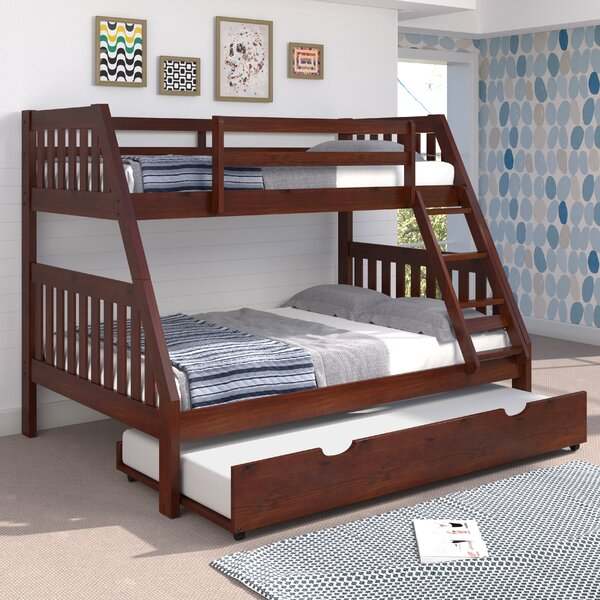 Mission Twin Over Full Bunk Bed with Trundle and Ladder by Chelsea Home