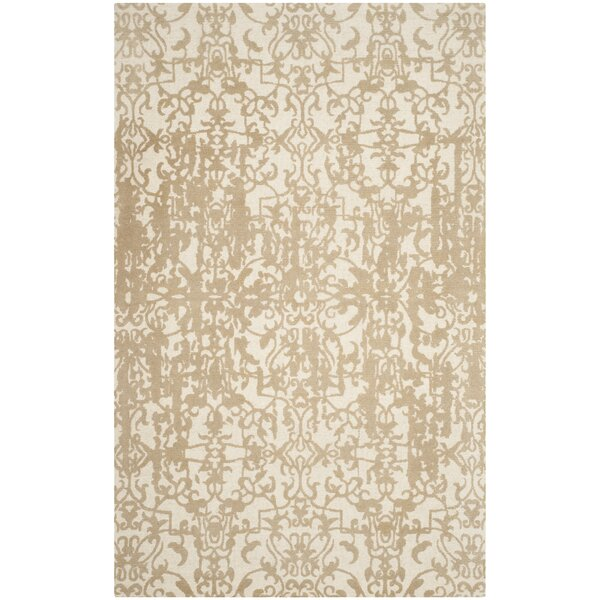 Ellicottville Hand-Tufted Ivory/Sand Area Rug by Ophelia & Co.