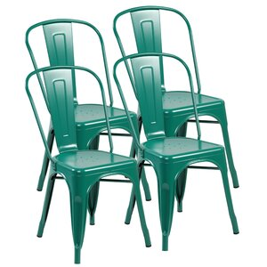Stacking Patio Dining Chair (Set of 4) eurosports