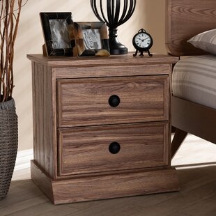 Rossiter 2 Drawer Nightstand by Millwood Pines