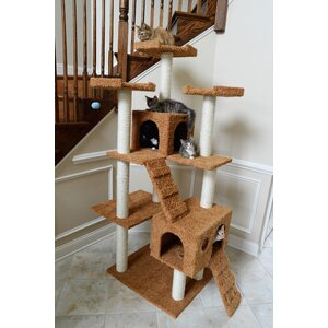74″ Classic Cat Tree in Brown