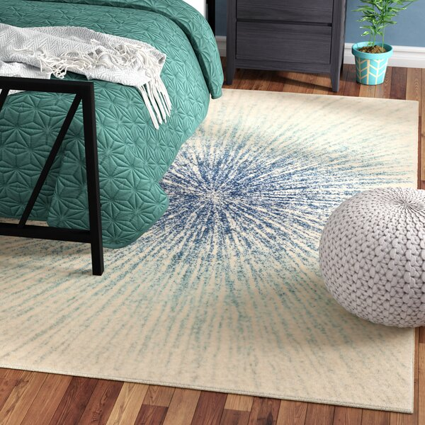 Hannan Royal/Ivory Area Rug by Mercury Row