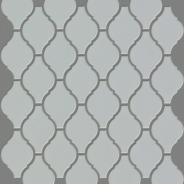 Sophisticated 2.8 x 2.8 Porcelain Mosaic Tile in Warm Gray by Shaw Floors