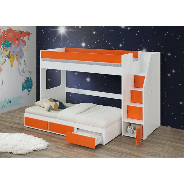 Shepardson Twin Loft Bed with Trundle and Drawers by Harriet Bee