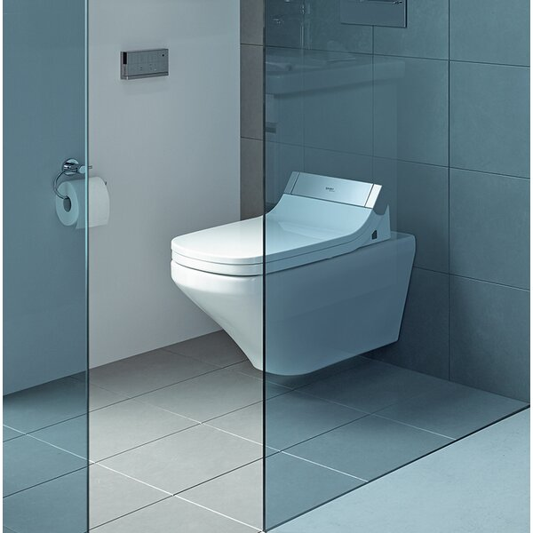 DuraStyle Dual-Flush Elongated Wall Mounted Toilet with High Efficiency Flush (Seat Not Included) by Duravit