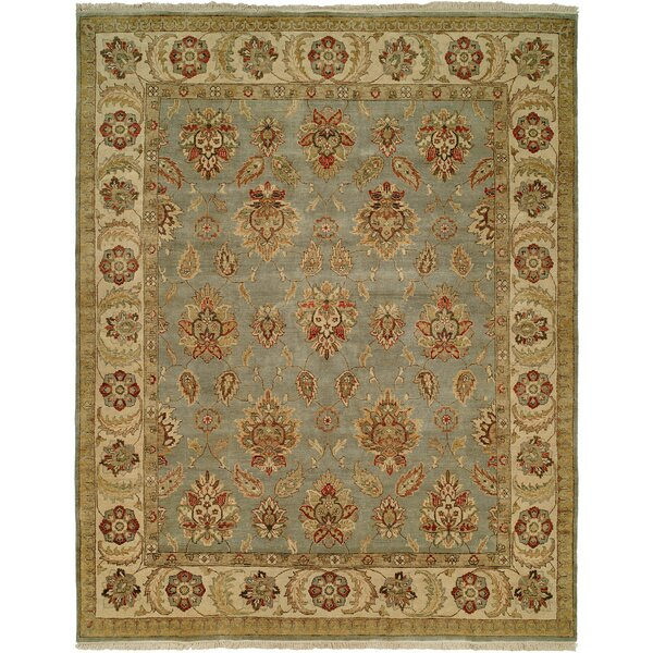 Lyttelton Hand-Knotted Blue/Brown Area Rug by Wildon Home ®