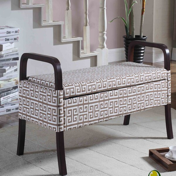 Powers Upholstered Storage Bench by Latitude Run