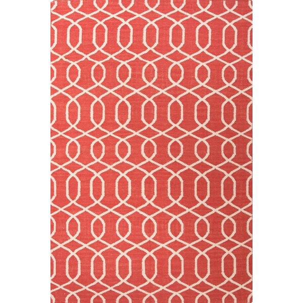 Ginger Geometric Red/Ivory Rug by Mercer41