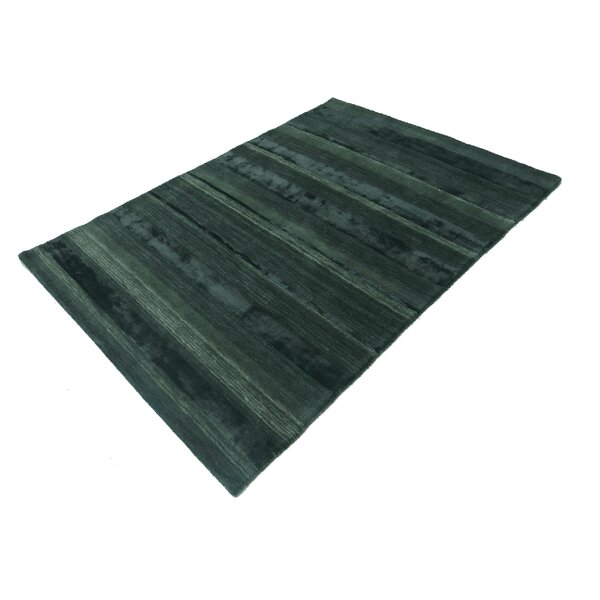 Talley Hand-Tufted Wool Dark Green Area Rug by Red Barrel Studio