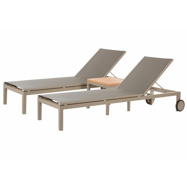 Malene Reclining Chaise Lounge with Table