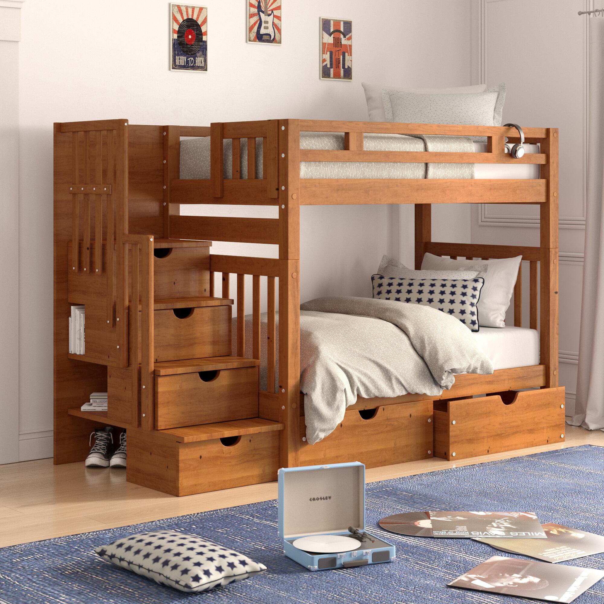Harriet Bee Langley Futon Bunk Bed With
