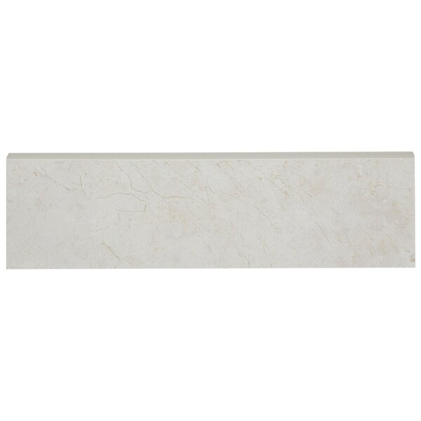 Florentine 10 x 3 Ceramic Bullnose Tile Trim in Argento by Daltile