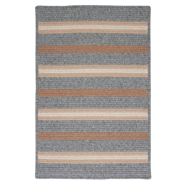 Salisbury Gray Striped Area Rug by Colonial Mills