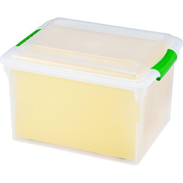 Store And Slide File Box (Set of 4) by IRIS USA, Inc.