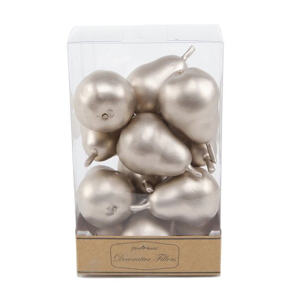 Roger Mini Metal Pears (Set of 12) by The Holiday Aisle