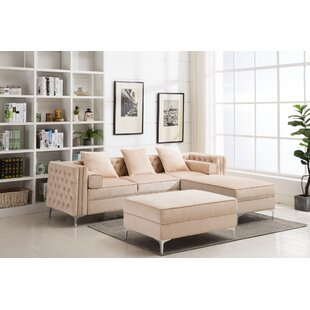 Zaida Reversible Sectional with Ottoman
