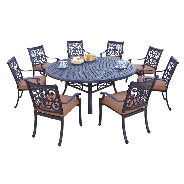 Mccraney 9 Piece Dining Set With Cushions By Astoria Grand