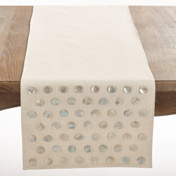 Saint Croix Mother of Pearl Table Runner by Saro