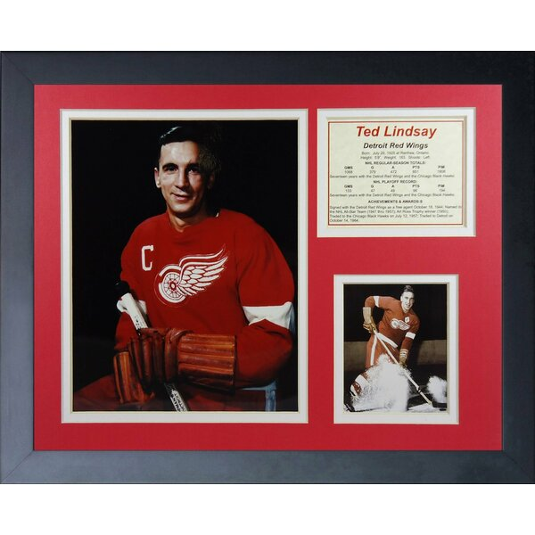 Ted Lindsay Framed Memorabilia by Legends Never Die