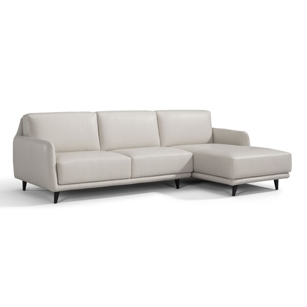 Laster Leather Sectional by Orren Ellis Orren Ellis