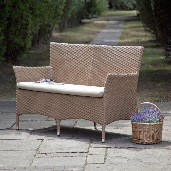 Pascal Rattan Garden Bench by Highland Dunes