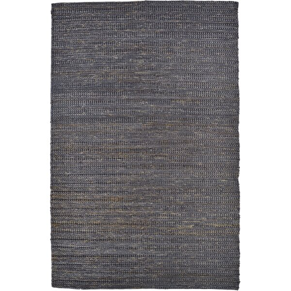 Riaria Hand-Woven Onyx Area Rug by Charlton Home