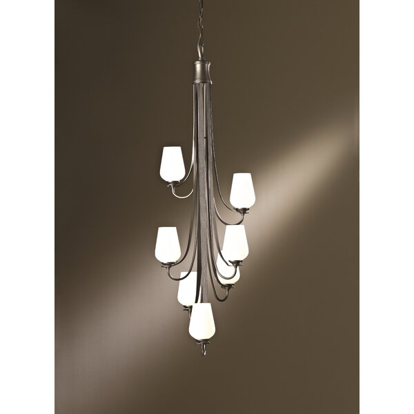 Flora 7 - Light Shaded Tiered Chandelier By Hubbardton Forge