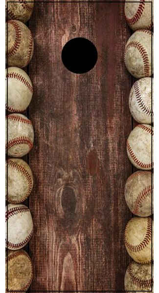Baseball Cornhole Board by Lightning Cornhole